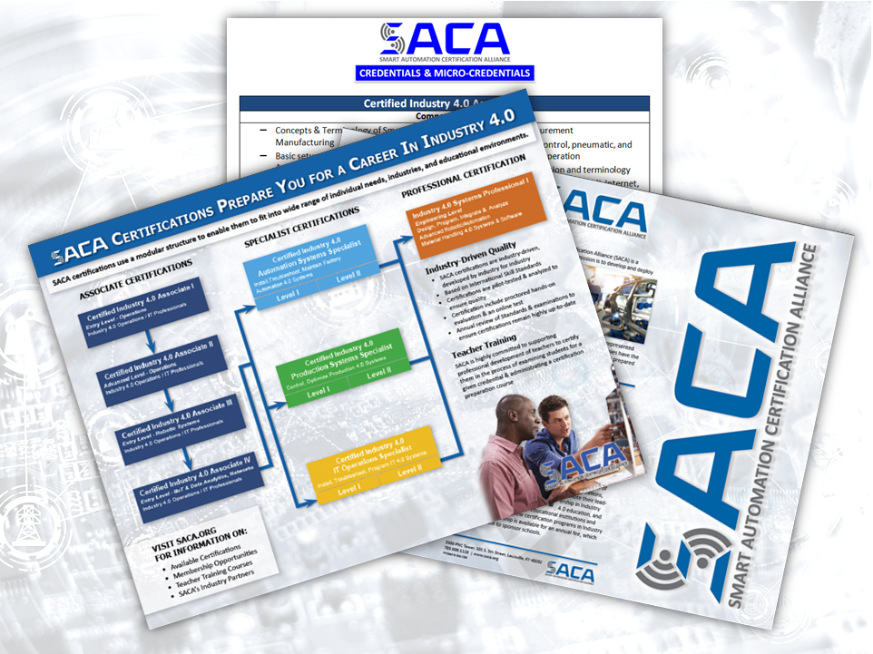 SACA provides various resources to help organizations promote the need for Industry 4.0 skills and certifications.