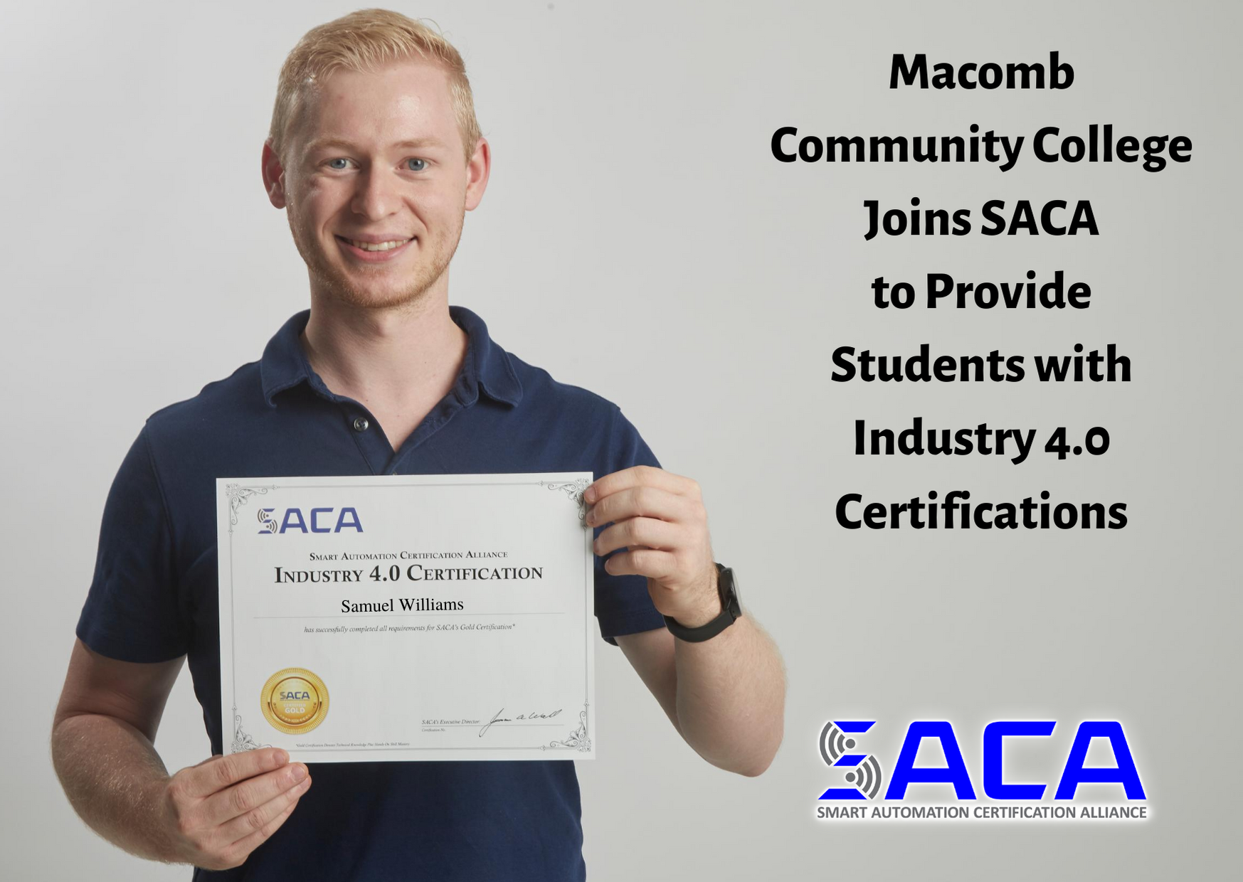 Macomb Community College Joins SACA for Industry 4.0 Certifications
