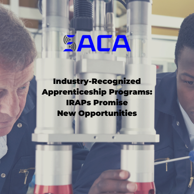 Industry-Recognized Apprenticeship Programs Promise New Opportunities